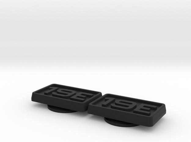 Badge for VW Golf 2 19E Turbo in Black Natural Versatile Plastic