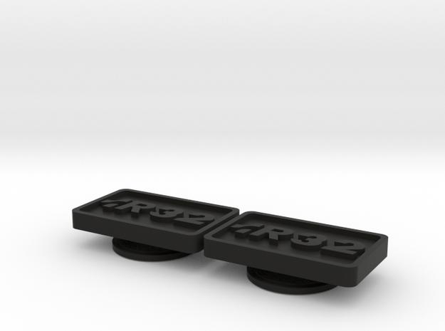 Badge for VW Golf 2 R32 in Black Natural Versatile Plastic