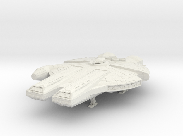 YT-90 Heavy Freighter in White Natural Versatile Plastic