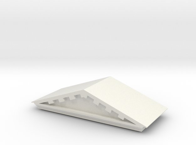 Hot Wheels Sto n Go Simple Bank Roof in White Natural Versatile Plastic
