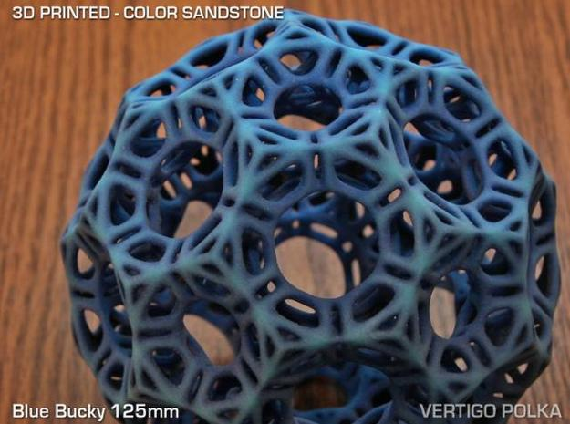 Blue Bucky 125mm 3d printed Blue Bucky - color sandstone