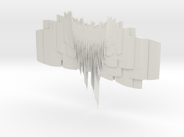 The Dried Up Waterfall in White Natural Versatile Plastic