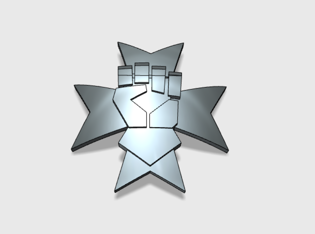 60x Templar Fist : Shoulder Insignia pack in Frosted Ultra Detail