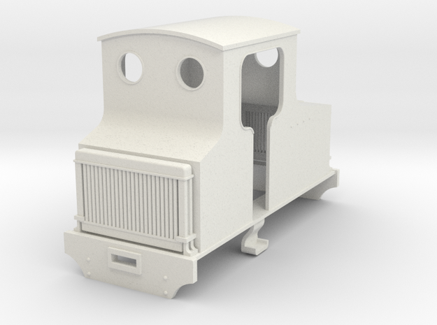 5.5mm WW1 hawthorn Leslie petrol loco in White Natural Versatile Plastic