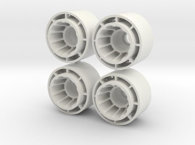 MINI Z F1-REAR +2.0 in White Natural Versatile Plastic
