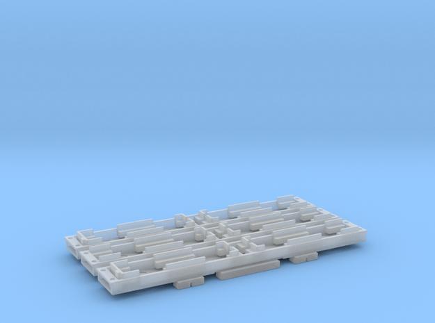 N Gauge D78 Underground Kit 3 Car floors only in Smooth Fine Detail Plastic