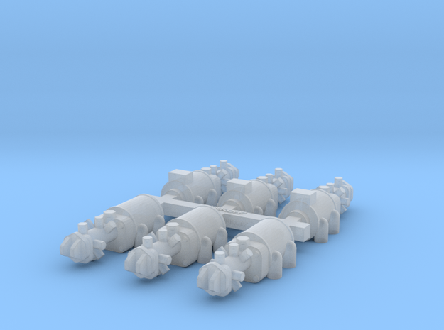 Set of 1/20th scale injection pumps for Cosworth D in Smooth Fine Detail Plastic