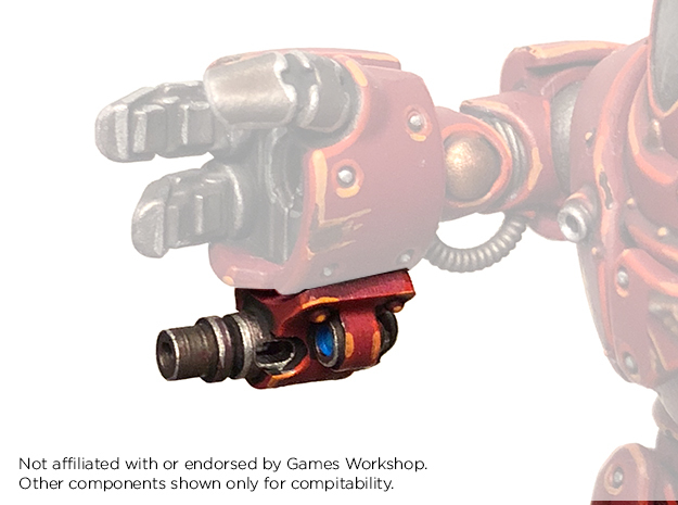 Castle-Robot - Underslung Fist Blasters in Frosted Ultra Detail