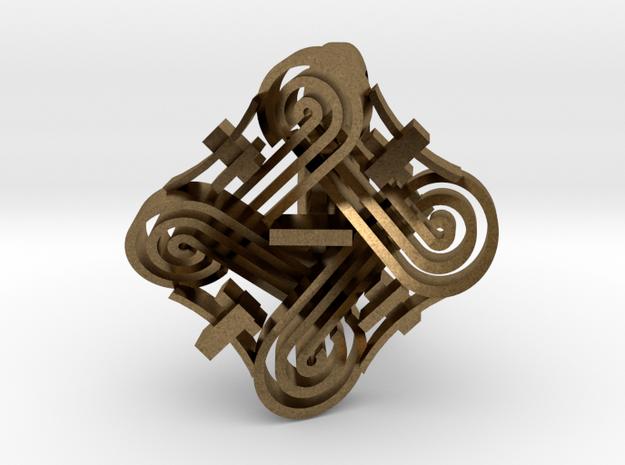 hannunvaakuna Ring in Natural Bronze