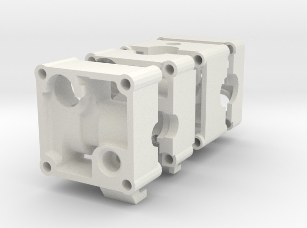 Ultimaker MK2 Direct Drive print head.  in White Natural Versatile Plastic