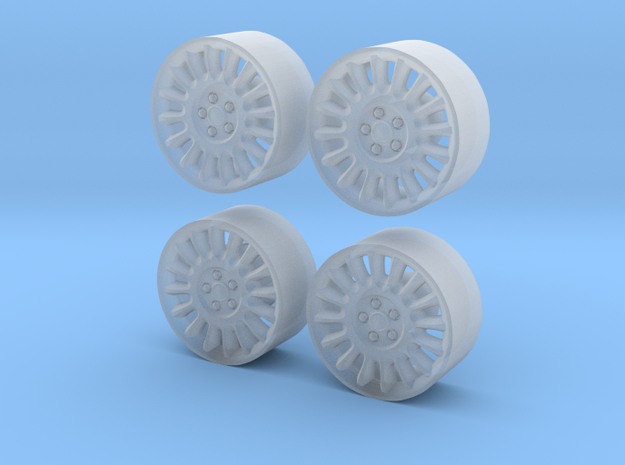 Police Dodge Charger wheels 1/27 in Smooth Fine Detail Plastic