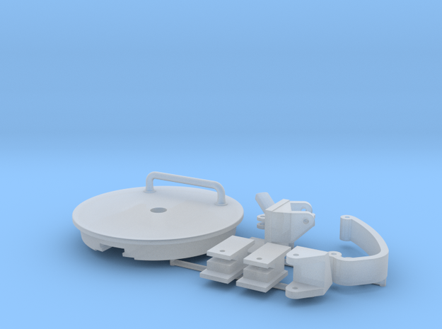 1/16th Panther Turret Rear Hatch in Smooth Fine Detail Plastic