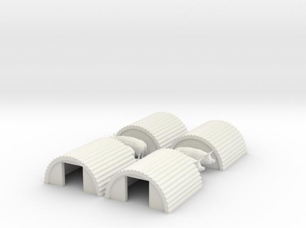 N Gauge Pig Sty 4 Pack in White Natural Versatile Plastic