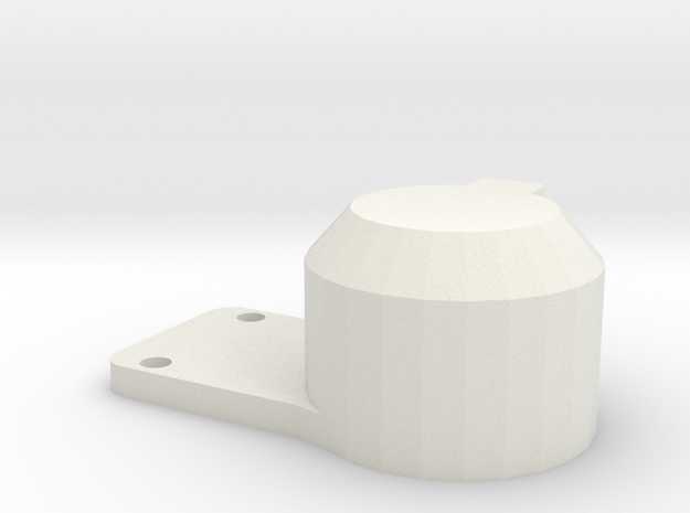 12 Volt connector plate rear bumper D90 in White Natural Versatile Plastic