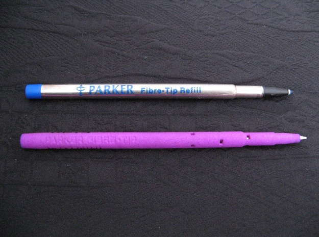 Adapter: Parker Fibre-Tip to D1 Mini in Purple Processed Versatile Plastic