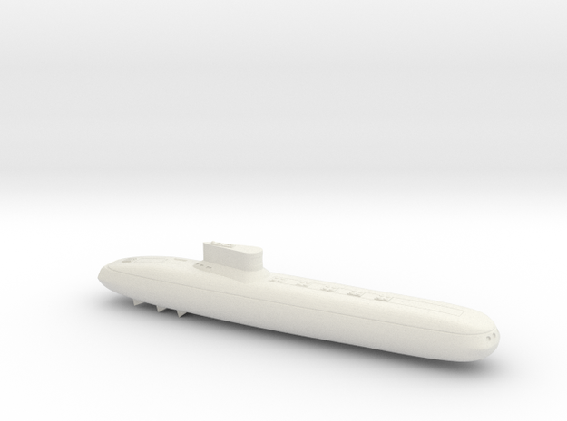 3788 Scale Frax Submarine Missile Cruiser MGL in White Natural Versatile Plastic