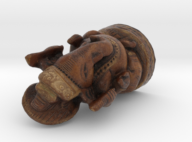 Ganesha - Wooden Figurine in Full Color Sandstone