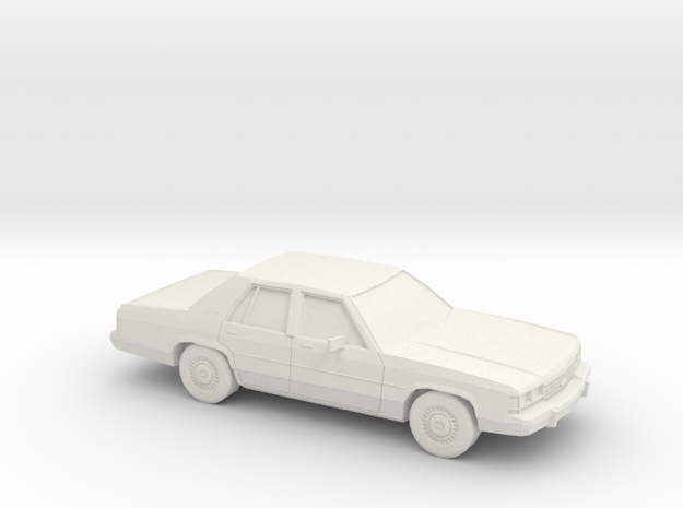 1/24 1989 ford Crown Victoria in White Natural Versatile Plastic