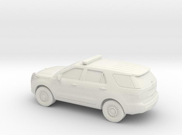 1/48 2011 Ford Explorer Police Interceptor in White Natural Versatile Plastic
