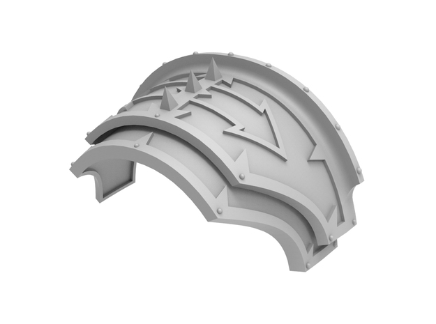 Spikey Blitz - Shoulder Pad in Frosted Ultra Detail