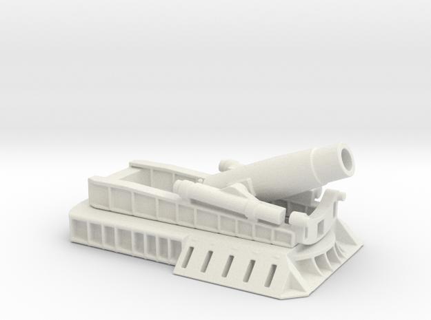 370 Filloux mortar 1/100 ww1 artillery  in White Natural Versatile Plastic