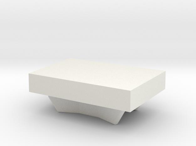 AirBeam2 Button in White Natural Versatile Plastic