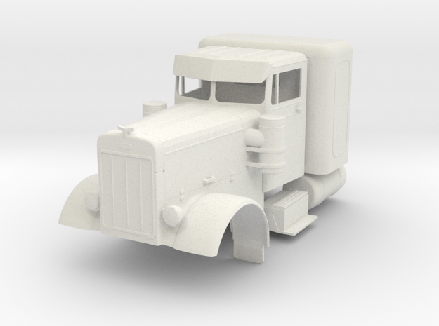 Peterbilt 351 in White Natural Versatile Plastic