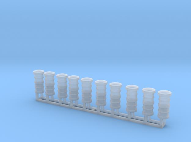 Schiffslampen/Navigation Lights 360° 1:50 double in Smoothest Fine Detail Plastic