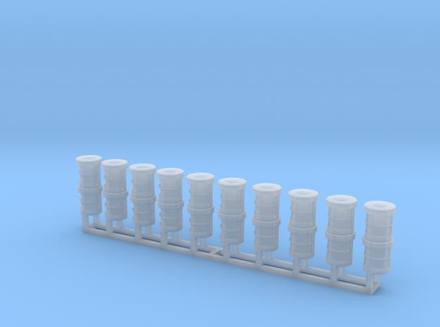 Schiffslampen/Navigation Lights  180° 1:50 double in Smoothest Fine Detail Plastic
