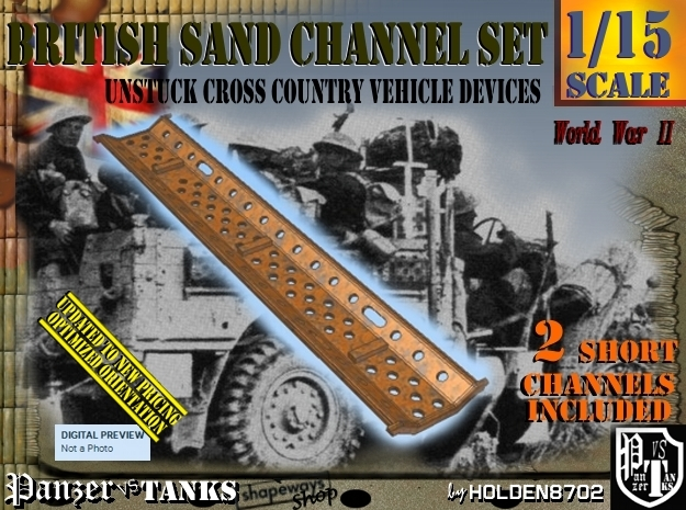 1/15 2xBritish Sand Channel Short Set in Frosted Ultra Detail
