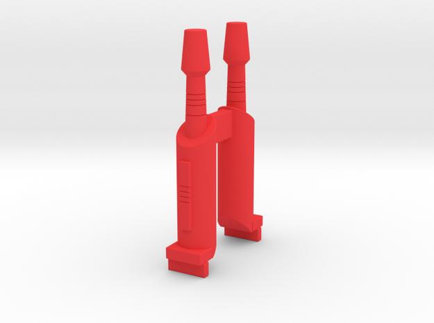 Starcom Tornado Gunship Top Cannon in Red Processed Versatile Plastic
