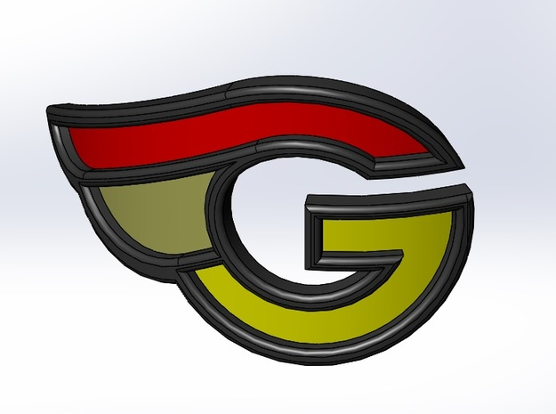 G-bicycle front logo in White Strong & Flexible