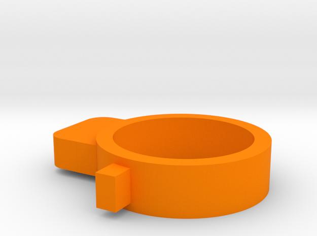 MSK barrel stabilizer in Orange Processed Versatile Plastic