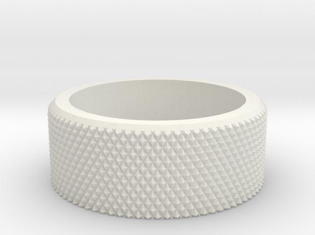 Sanwa RC Transmitter wheel blank in White Natural Versatile Plastic