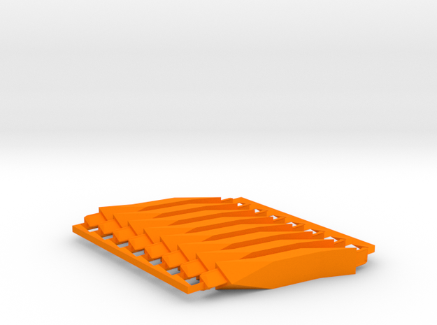 8 Orange Super-Short struts