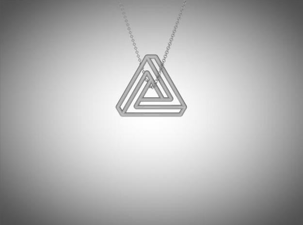 Impossible triangle pendant M 3d printed