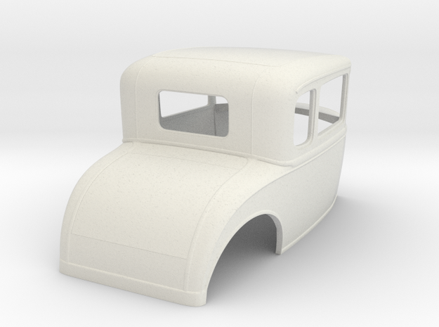 1930 Ford coupe 1/16 scale in White Natural Versatile Plastic