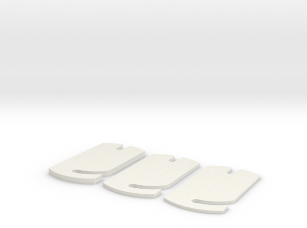Buri rideheigtfront adjusters in White Strong & Flexible