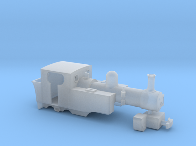 WHR Fairlie Locomotive 'Gowrie' in Smooth Fine Detail Plastic