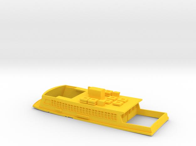 Sydney Ferry Upper Deck in Yellow Processed Versatile Plastic