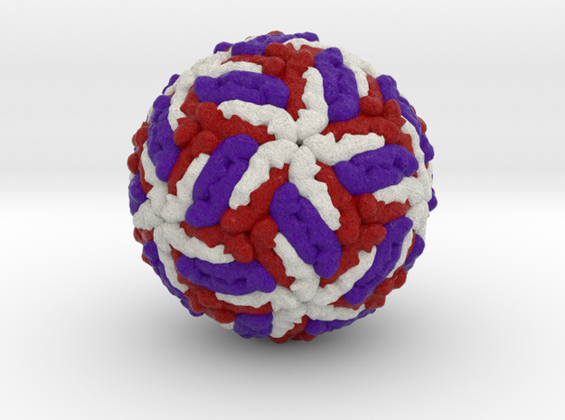 Tick-Borne Encephalitis Virus in Full Color Sandstone