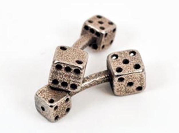 Dice Cufflinks in Stainless Steel