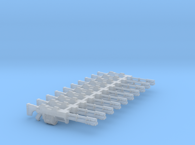 Shotlas (10 Pack) in Smooth Fine Detail Plastic