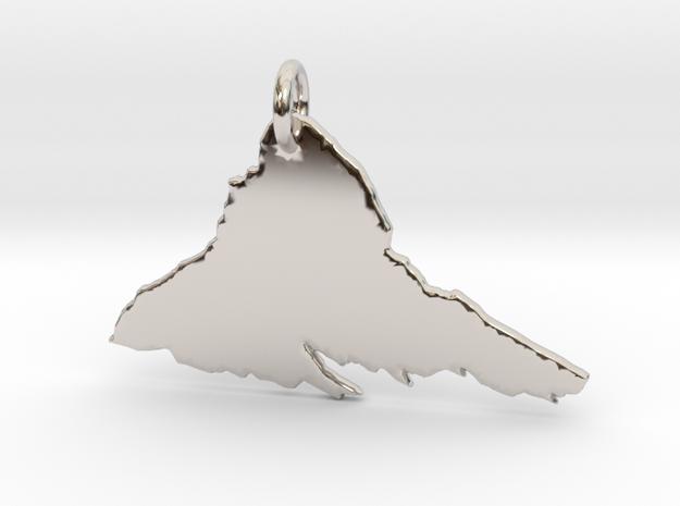 Matterhorn Necklace in Rhodium Plated Brass