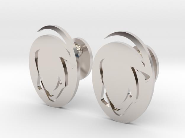 Penn State Cufflinks, Customizable in Rhodium Plated Brass