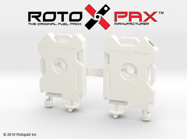 TR10017 TRX-4 RotopaX door mount WHITE in White Strong & Flexible Polished