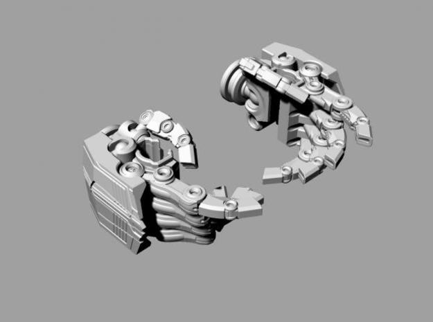 ROTF Leader Optimus Prime knuckle hands 3d printed knuckles in.