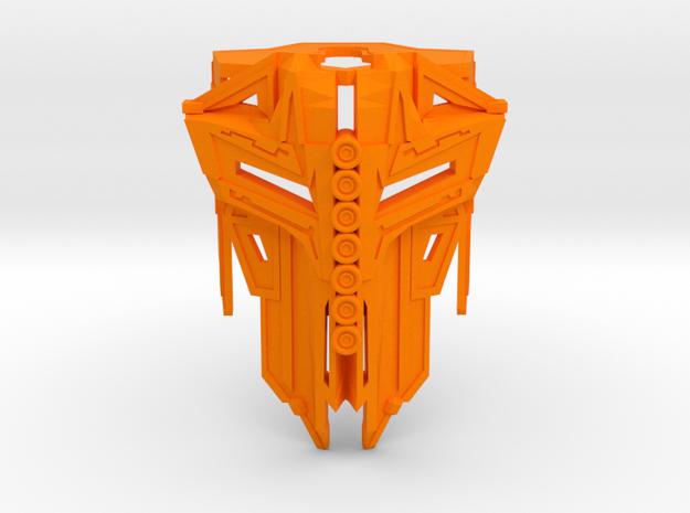 Mask of Particle Beam II in Orange Processed Versatile Plastic