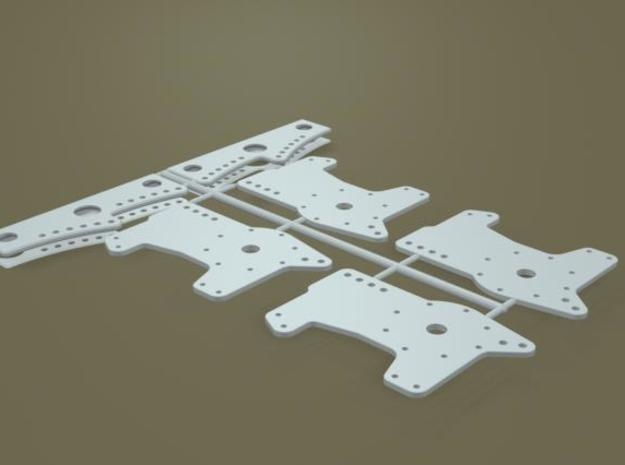 1/12 11 Inch Rearend 4 Bar Link Plates 3d printed