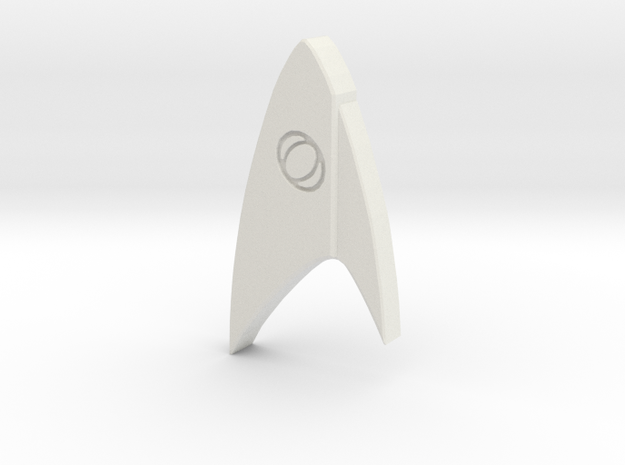 Star Trek Discovery Science badge in White Natural Versatile Plastic